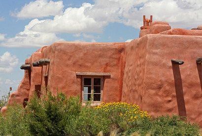 New Mexico Adobe House